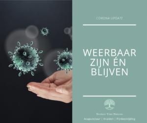 Update coronavirus - weerstand opbouwen