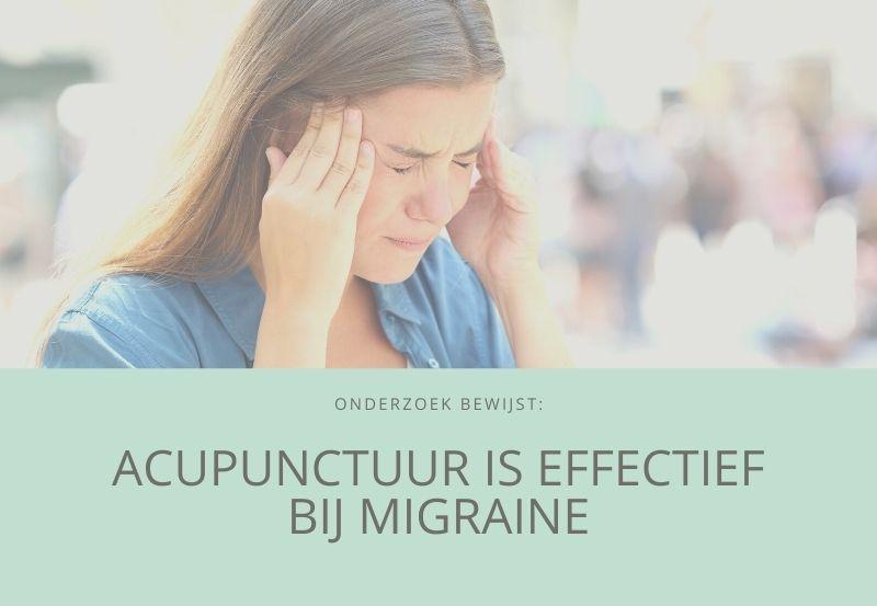 Acupunctuur effectief bij migraine [onderzoek]