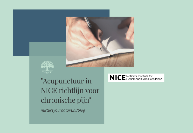 Acupunctuur bij chronische pijn in richtlijn NICE.